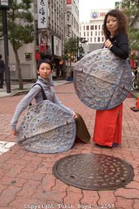 Camouflage security fashion by Japanese designer Aya Tsukioka